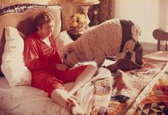 Gene Wilder in bed with a sheep.