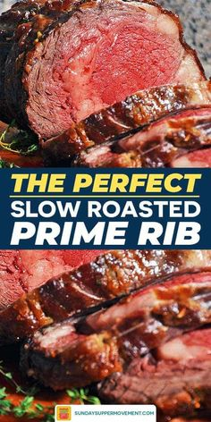 Prime Rib In Oven, Slow Cooker Prime Rib, Cooking Prime Rib Roast, Boneless Prime Rib Roast, Slow Roasted Prime Rib, Cooking A Roast, Slow Cooker Roast, Prime Rib Dinner, Rib Recipes