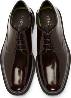 Kenzo for Men Collection Kenzo Brown Leather Derbys Mens Fashion Shoes, Men S Shoes, Fly Shoes, Gentleman Shoes, Derby, Formal Shoes For Men, Leather Shoes, Casual Shoes, Shoe Boots