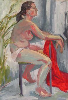 "Maria Kondimae ""Morning crisp"" Oil on board, 50*75 cm. 2011."