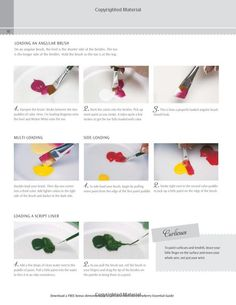 How to - by Donna Dewberry from her book: Donna Dewberry's Essential Guide to Flower and Landscape Painting.