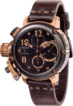 U-Boat Watch Chimera Black Bronze Chrono Limited Edition #add-content #basel-17 #bezel-fixed #bracelet-strap-leather #brand-u-boat #case-material-bronze #case-width-43mm #chronograph-yes #date-yes #delivery-timescale-call-us #dial-colour-black #gender-men