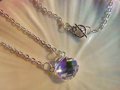 18inch Silver Chain with Gorgeous Swarovski by terrykellyjewelry, $28.00