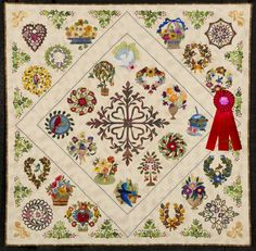 2011 Quilt Expo Quilt Contest, 2nd Place, Category 8, Wall Quilts, Machine and/or Hand Quilted - Appliqued: Little Brown Bird and Friends, Jean Stenberg, Rapid City, S.D.