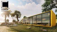 Projeto para casa container. #casacontainer #casaconteiner #container #conteiner #casadepraia