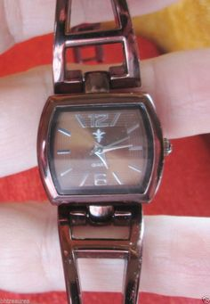 Ladies Accutime Bronze Stainless Steel Finish Fashion Watch  #Accutime #Dress