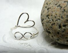 Infinity Love Wire Ring (Unending Love Ring). $8.00, via Etsy.
