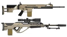 Top one is SCAR-H TPR [Tactical Precision Rifle]. jdm