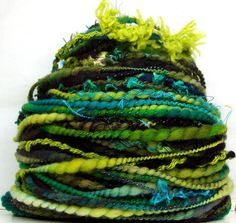 FunctionArt - Lizard King - Hand Spun Art Yarn - this is absolutely one of my favorite colors to spin and one of these days I'm going to knit up one of my own skeins of this color!