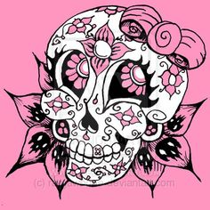 candy skull pictures todraw | how to draw : candy skulls