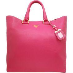 PRADA Vitello daino tote ($1,105) ❤ liked on Polyvore featuring bags, handbags, tote bags, borse, bolsas, purses, bolsos, women, genuine leather tote and leather tote handbags