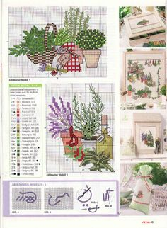 Borduurpatroon Bloem- Plant- Dier *Cross Stitch Flower- Plant- Animal  ~Kruiden *Herbs~