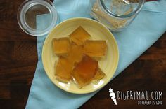 Chamomile Jello for extra gelatin (gut health!) and relaxation help.