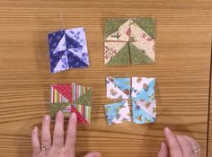 Quiltmaker Lessons in Creativity Season 2 Episode 8: Pinwheels, faux-flying geese, and other quilt blocks are fun ways to use half-square triangles. In this episode of Lessons in Creativity, Jenny Kae Parks demonstrates how to make the mini pinwheel Bitty Block!