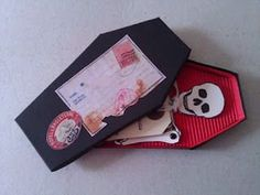 Coffin' Skeleton Halloween Invitations