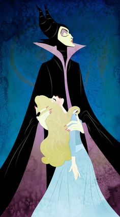 *MALEFICENT ~ Sleeping Beauty, 1959.....Here's Your Precious Princess by ashren on DeviantArt