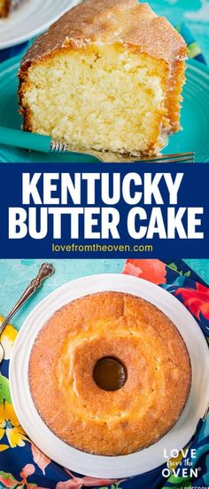 This moist and delicious Butter Pound Cake is glazed with a scrumptious butter syrup glaze. And it's a super easy cake to make that everyone LOVES! #cake #bundtcake #tubecake #buttercake #kentuckybuttercake #recipe #dessert #lftorecipes
