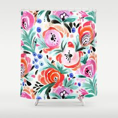 Follow the link to view this product on society6.com! @society6 #shower #showercurtains #apartment #collegeapartment #apartmentgoals #art #buyart #floral #nature #organic #natural #plants #earth #interiordesign #design #interior #homedecor #home #decor #homesweethome #bathroom #bath #bedandbath #pink #orange #green #blue