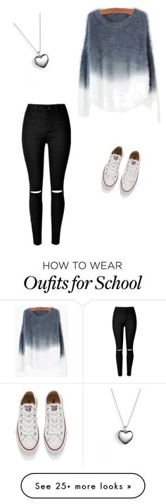 """School days"" by chloeraeb on Polyvore featuring Converse, Pandora, women's clothing, women, female, woman, misses and juniors"