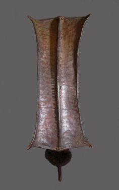 69 L - 1234 - Turkana grau - 77 x 38cm - African shields - African Weapons
