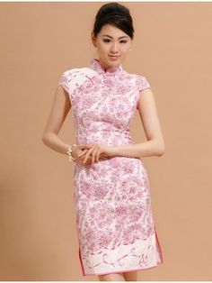 Floral Cheongsam / Qipao / Chinese Dress