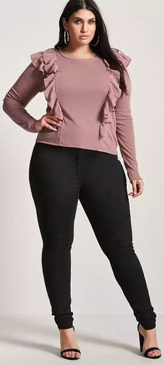 Plus Size Ruffle Top - Plus Size Fashion for Women #plussize