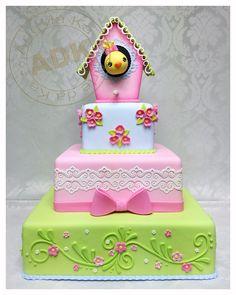 Bird cake...great cake for a little girl