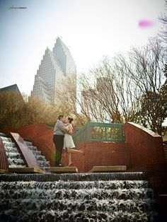 Downtown Houston and Hermann Park engagement photos. Fall engagement photography. Houston engagement photos.