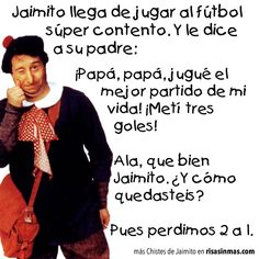 Jaimito jugador de fútbol