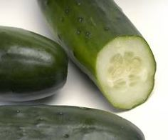 Cucumbers are a delightful vegetable with many medicinal uses. Cucumbers are very good for the skin, especially the complexion. Either eaten or used topically, they cool and heal the skin.