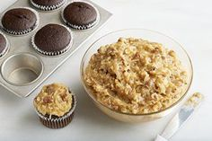 This is, of course, the best reason to eat German chocolate cake. A sweet, caramely mix of coconut and pecans that can make you forget there's a whole dessert underneath it.