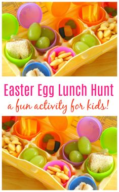 Make your kids' lunch into an Easter Egg Lunch Hunt! They'll have a blast opening each egg to see what surprise awaits them! Lunchtime has never been so fun! hunt Easter Egg Lunch Hunt - A fun activity and lunch for kids! Easter Bunny Cake, Easter Treats, Easter Eggs, Easter Food, Easter Snacks, Hoppy Easter, Easter Lunch, Easter Dinner, Easter Party