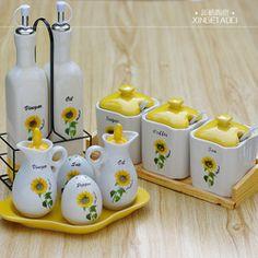 sunflower kitchen ceramic sunflower kitchen canister set