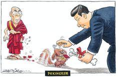 Zapiro for The Times: For Third Time in Five Years, Dalai Lama Refused Visa to South Africa #comics #sacomics #cartoons