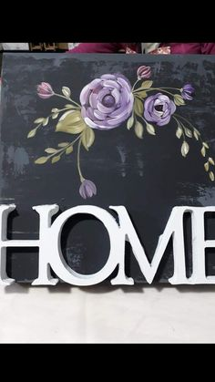 Fall Canvas Painting, Painting On Wood, Rosemaling Pattern, Painted Signs, Home Deco, Wood Signs, Decoupage, Diy And Crafts, Shabby Chic