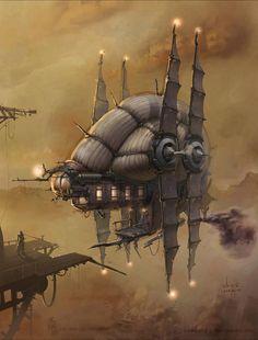 blimp1. #steampunk #steampunkart #airship http://www.pinterest.com/TheHitman14/artwork-steampunked/