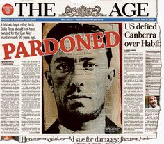 On May 27th, 2008 Victorian Attorney-General Rob Hulls announced that Colin Campbell Ross was posthumously pardoned. After an extraordinary examination of facts found he was wrongly convicted of killing a schoolgirl in Victoria's Gun Alley murder. The unprecedented pardon had been granted – 86 years after Ross was hanged. #twistedhistory #melbournemurdertours #ghosttours #geelonggaolghosttours #beechworthghosttours #murder #crime #gun alley