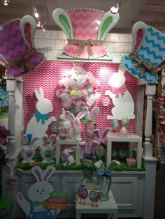 Easter Display from our Dallas Showroom at the Dallas Market Center - Summer 2014! #burtonandburton #Easter #dallasmarket