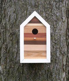 Modern birdhouse. My latest design. Sold.