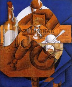 Glass, Cup and Bottle - Juan Gris -