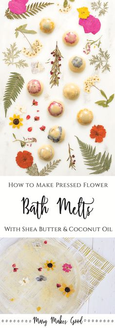 Make your own pressed flower bath melts using natural ingredients like coconut oil, shea butter, oat flour, and essential oils. Small Bathroom Organization, Diy Organization, Bathroom Storage, Craft Storage, Storage Ideas, Storage Baskets, Food Storage, Storage Solutions, Bath Melts