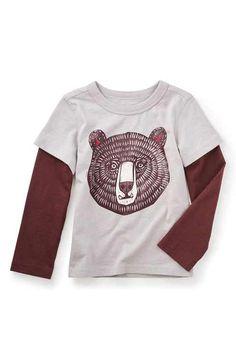 Tea Collection 'Tut Tut' Graphic Layered T-Shirt (Toddler Boys & Little Boys)