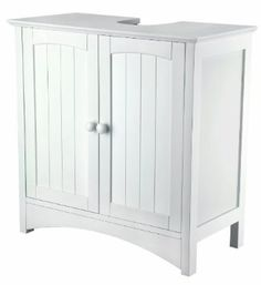 Tongue And Groove Under Sink Storage Unit White