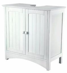 26.66 Homebase White Wood Under Sink Storage Unit. | Pedestal Sink ...
