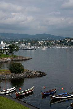 Harbor of Oslo, Norway