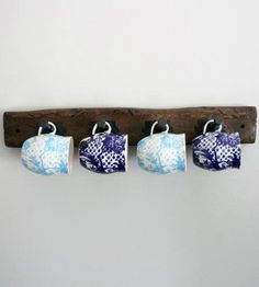 Wooden Coffee Cup Hanger - 40 Rustic Home Decor Ideas You Can Build Yourself