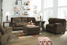 2 pc dailey collection chocolate fabric upholstered sectional sofa couch with overstuffed arms Living Room Sectional, Sectional Sofa, Living Room Furniture, Couches, Ottoman Sofa, Chocolate Living Rooms, Brown Sofa Set, Sofa Italia, 3 Piece Sofa