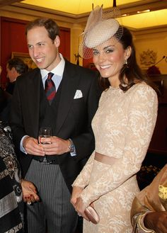 Prince William, Duke of Cambridge and Catherine, Duchess of Cambridge attend a reception at Guildhall on June 5, 2012 in London, England.
