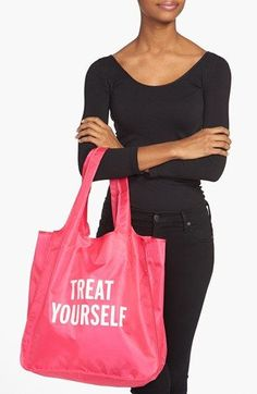 kate spade new york 'treat yourself' reusable shopping tote | Nordstrom