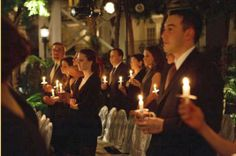 candlelight for an evening ceremony